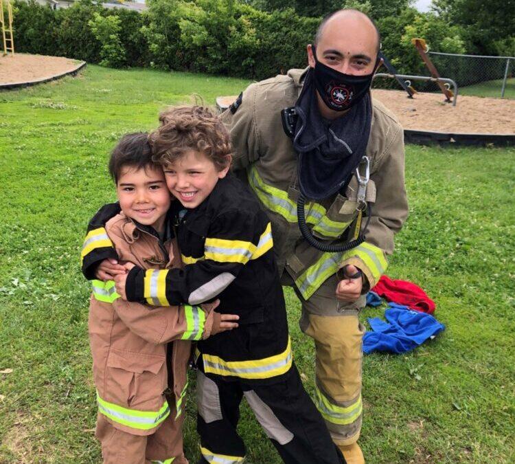 Journée avec les pompiers